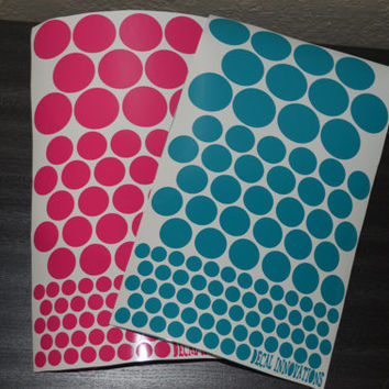 Vinyl Polka Dot Stickers DIY