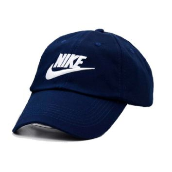 Navy Blue Embroidered 100% Cotton Adjustable cotton cap