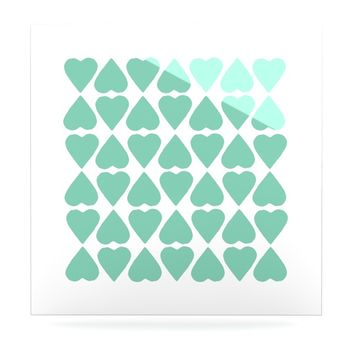 "Project M ""Mint Diamond Hearts"" Luxe Square Panel"