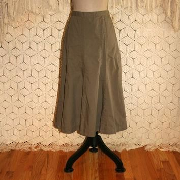 Taupe Brown Skirt Cotton Skirt Full Skirt Casual Skirt Midi Skirt Womens Skirts Ralph