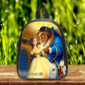 Beauty and Beast on Kid School Bag Backpack