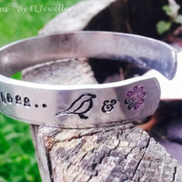 "Hand Stamped 'All the Colors' 1/2"" Aluminium Cuff Bracelet, All The Bright Places, Finch & Violet, Jennifer Niven,Book Jewellery, Quote,OOAK"