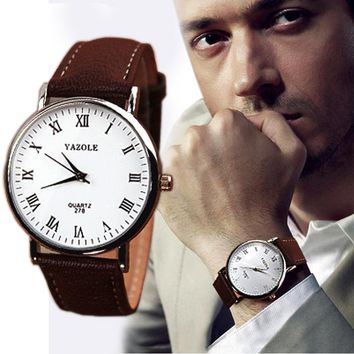 Ultra Slim Men's Watches  Stainless Steel  clock Faux Leather Mens Analog Watch Watches New Business Quartz Waist Watch Male