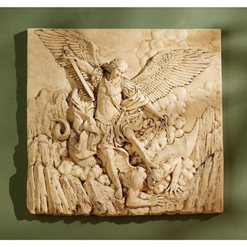 Stone Sculptural Wall Mount Slab, Greek God Wall Statue