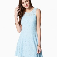 Medallion Lace Fit & Flare Dress | Charming Charlie