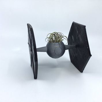 Star Wars Ti Fighter Planter, 3D Printed, Succulent Planter, Air plant holder, Flower pot, Home Decor, Fall decor, Made in the USA