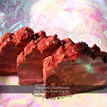 Black Cherry Bomb Soap Bar