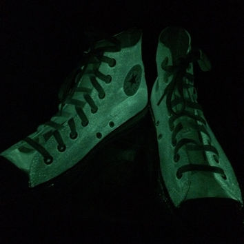 Kids Glow in the Dark Converse Shoes Halloween Shoes High Top Glow-in-the-Dark Converse