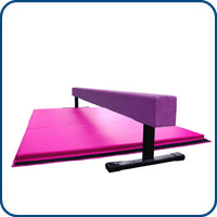 8ft Purple 12in Balance Beam & 6ft Pink Gymnastics Mat | Nimble Sports