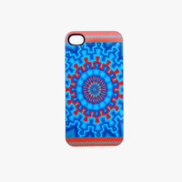 SALE Aztec iPhone Case fits 4 4S Tangerine and Blue Hard Plastic Case
