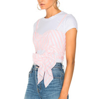 Johanna Ortiz Jardin Top in Pink/White | FWRD