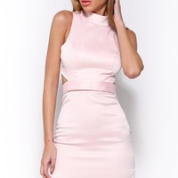 Ghost Town Dress Baby Pink