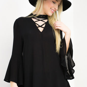 Lace Up Open Back Top