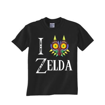 i love zelda majora mask Custom Tshirt for men's , T shirt Cotton, Funny T shirt, Awesome T shirt, best design and clothing