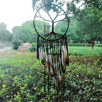 New Fashion India Retro Life Tree Feather Dream Catcher Wind Chimes Hanging Pendant Good Luck Dreamcatcher Christmas Gifts