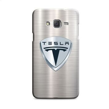 Tesla Motors Brushed Metal Logo Samsung Galaxy J7 2015 | J7 2016 | J7 2017 Case