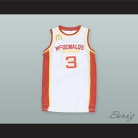 Kevin Durant 3 McDonald's All American White Basketball Jersey