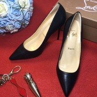 DCCK2 Christian Louboutin CL 100mm Patent Leather High Heels W09