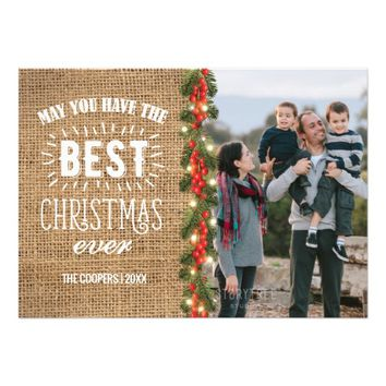 Rustic Country Best Christmas Ever Card