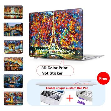 "Eiffel Tower Canvas Prints Matte Hard Cover Case For Apple Macbook Air 11"" 12'' 13"" Pro 13"" 15"" Pro Retina 13"" 15"" Laptop Case"