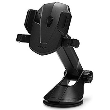 Spigen Kuel AP12T Car Mount Universal Phone Holder With One Touch Function & Low Profile Design for iPhone 7 / 7 Plus / 6S / 6S Plus / Galaxy S7 / Galaxy S7 Edge / LG / HTC / Nexus