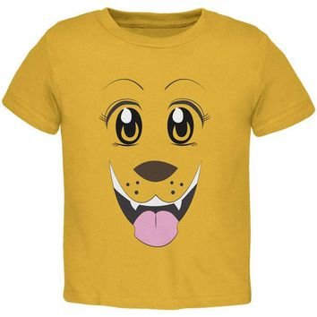 LMFCY8 Anime Dog Face Inu Gold Youth T-Shirt
