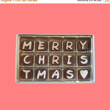 Christmas gifts for Men Women Grandparents Kids Him Friend Coworker Bosses Mom Dad Father Mother In Law Merry Christmas Chocolate Message