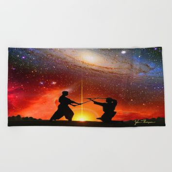 Star Warriors Beach Towel by JT Digital Art
