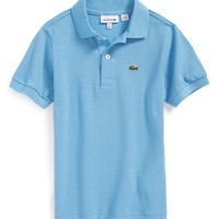 Boy's Lacoste Short Sleeve Pique Polo