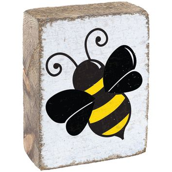 Bumble Bee | Wood Block Sitter | 6-in