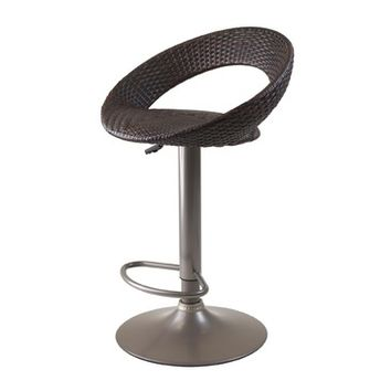 Winsome Wood Bali Adjustable Airlift Stool - Woven Seat