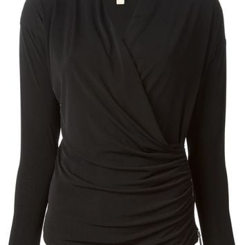 Michael Michael Kors wrap side zip ruched top