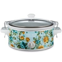 Pioneer Woman 6-Quart Portable Slow Cooker Rose Shadow | Model# 33369 By Hamilton Beach - Walmart.com