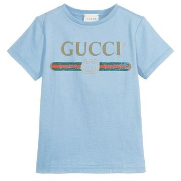 29e4a9d6 Gucci Girls Boys Children Baby Toddler Kids Child Fashion Casual Shirt Top  Tee