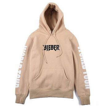 New 2017 Justin Bieber Purpose The World Tour Hoodie Sweatshirt Unisex Women Men Hoodies Tops Spring Autumn Long Sleeve Outwear