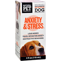 King Bio Homeopathic Natural Pet Dog - Anxiety And Stress - 4 Oz
