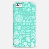 Mod Elements in Turquoise iPhone 5 case by Nick Nelson | Casetify