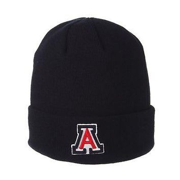 Licensed Arizona Wildcats Official NCAA Cuff Adjustable Beanie Knit Sock Hat by Zephyr KO_19_1
