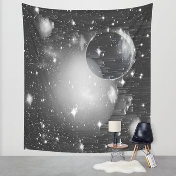 Space Pixels Wall Tapestry by Ducky B