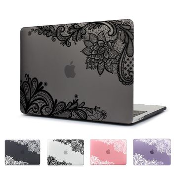 Lovely Lace Design Matte Laptop Cover Case For New Macbook Pro 13 15 2016 Model:A1706 a1707 A1708 W/out Touch Bar Notebook Cover