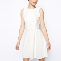 ASOS Skater Dress with Fold Detail in Texture