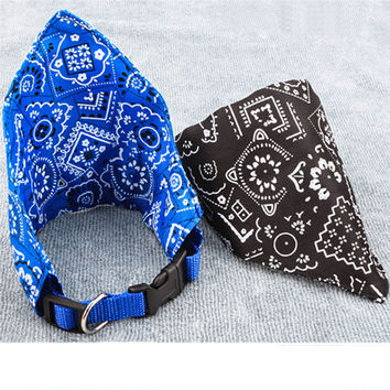 S/M/L Adjustable Pet Dog Puppy Cat Neck Scarf Bandana Collar Neckerchief cat kitty neck decor dress up drop sale