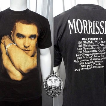 Super Rare Vintage 1992 Morrissey T Shirt The Smiths Indie Shirt Hipster Shirt 90s Tour Shirt 90s Band Shirt Johnny Marr New Romantic Shirt