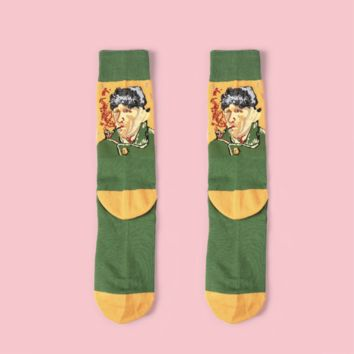 Van Gogh's Self Portrait Sock Vol.3