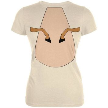 ONETOW Halloween Horse Costume Palomino Tan Juniors Soft T Shirt