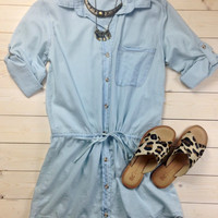 Light Wash Chambray Dress