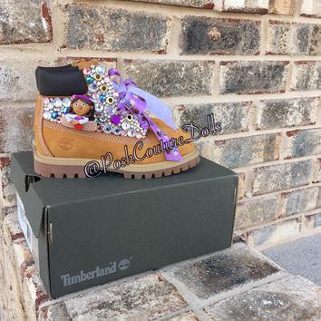 Custom Doc McStuffins Inspired Junk'd Timberlands Youth 11.5