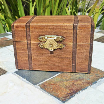Rustic Ring Bearer Box, Steamer Trunk, Cufflink Box