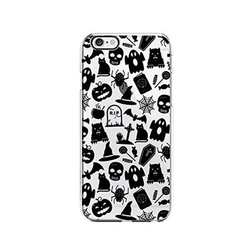 Halloween Pumpkin Black Cat Pattern Transparent Silicone Plastic Phone Case for iphone 7 _ LOKIshop (iphone 7)