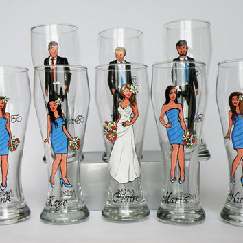 Wedding Party Gift Ideas For Groomsmen Canada : Bridal Party Wine Glasses